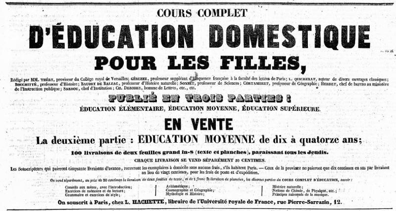 Pierwsza reklama w dzienniku La Presse